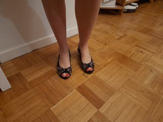 Sandalias con cuña tipo alpargata.