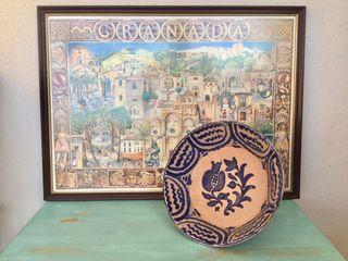 Cuadro cartel turístico de Granada