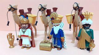 Playmobil Reyes Magos y sus Camellos