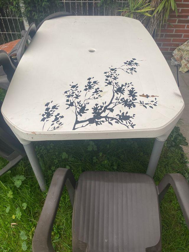 Mesa plástico jardin