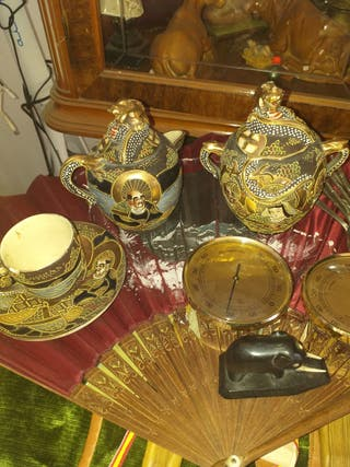 juego de taza japonesa antigua