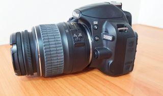 Nikon D3100 (segunda mano) + objetivo 18-55mm