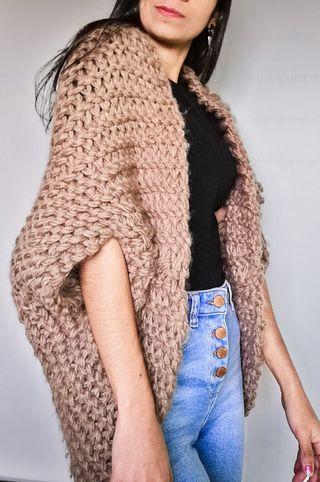 Cardiga, abrigo, tejido, chaleco, invierno, chaque