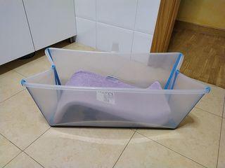 Bañera plegable para bebés + hamaca.