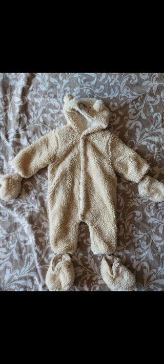 Buzo invierno de borreguito bebé 6 meses