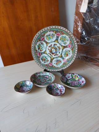 Set platos cerámica antiguos