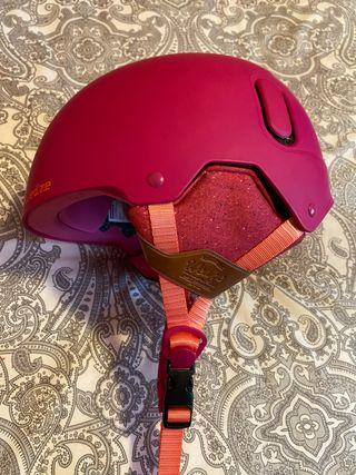 Casco Rosa Snowboard