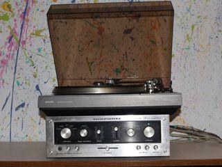 Tocadiscos y amplificador Marantz
