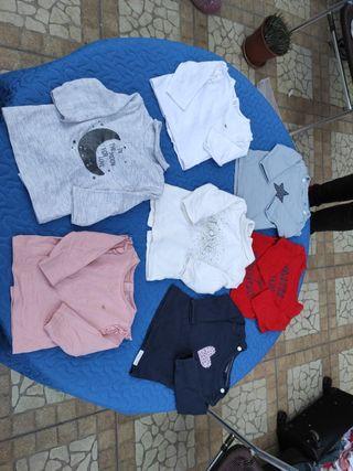 camisetas manga larga bebe