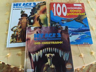 3 libros animales prehistóricos