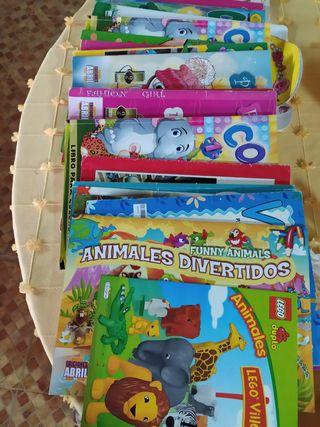 Lote de 8 libros para colorear