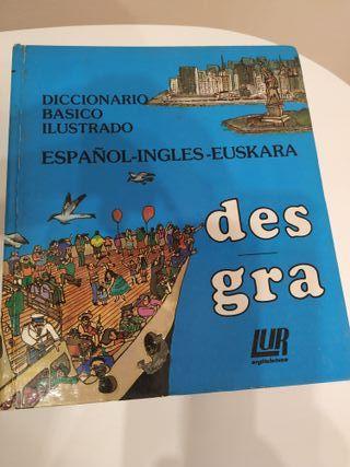 Diccionario ESPAÑOL-INGLES-EUSKARA.