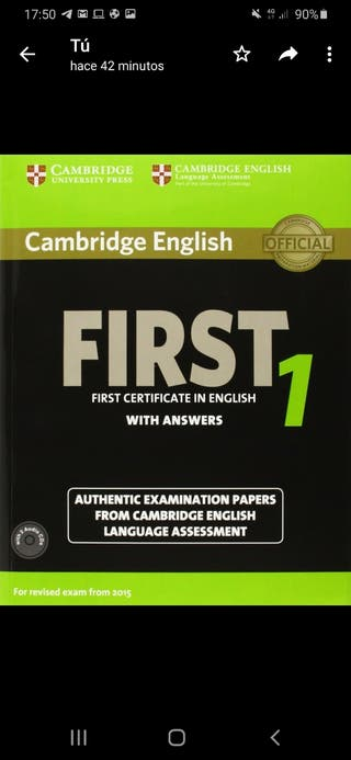 libro inglés b2, first certificate With answer 1.
