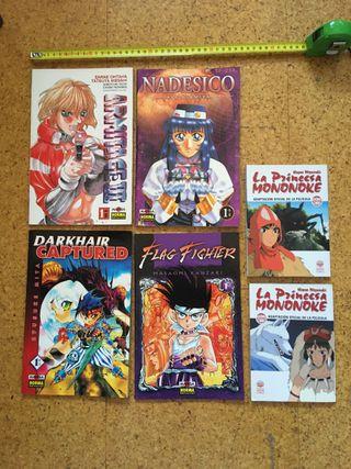 6 libros de MANGA, ANIME.