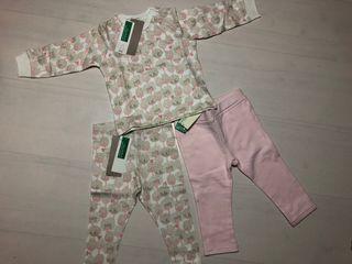 Conjunto de sudadera y dos pantalones Benetton