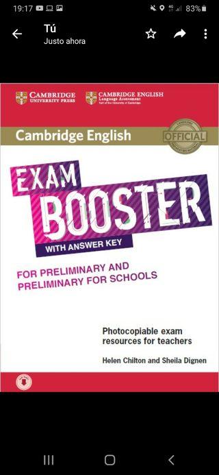 libro inglés b1, exam booster preliminary