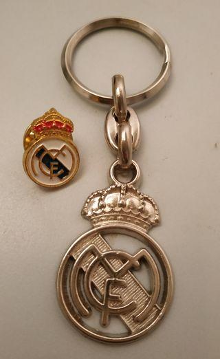 Llavero y pin Real Madrid