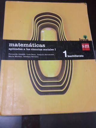 LIBRO matemáticas 1 BACH SOCIALES.