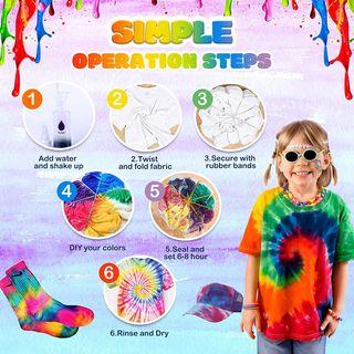 Juego tinte 18 colores para ropa