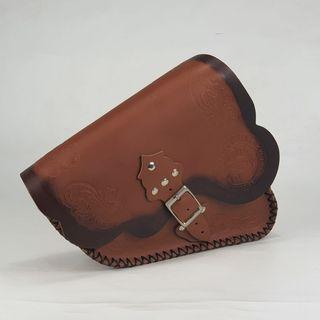ALFORJA LATERAL SPORTER color marrón / borde