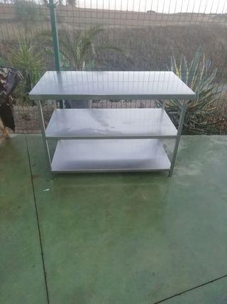 mesa acero