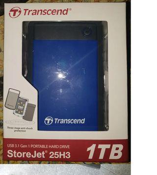 Disco duro Transcend Storejet 25H3 1TB PRECINTADO