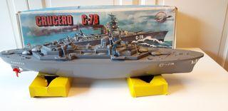 Crucero C-78, marca Ranetta, juguete vintage.