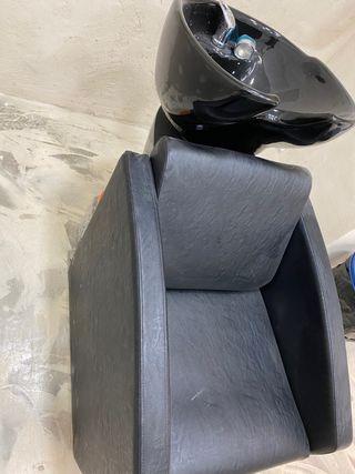 Lavacabezas con sillón