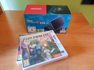 Consola New Nintendo 2DS XL Negro/Turquesa + 2