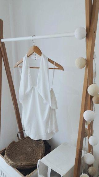 Top espalda descubierta de Zara blanco