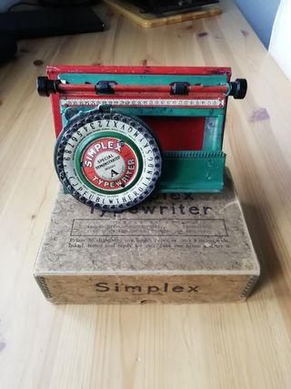 Máquina de escribir Simplex model A