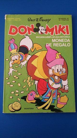 TEBEO DON MIKI Nº 55 MONTENA WALT DISNEY - 1977
