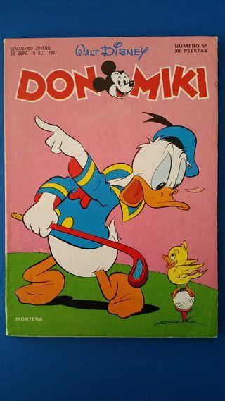TEBEO DON MIKI Nº 51 MONTENA WALT DISNEY - 1977