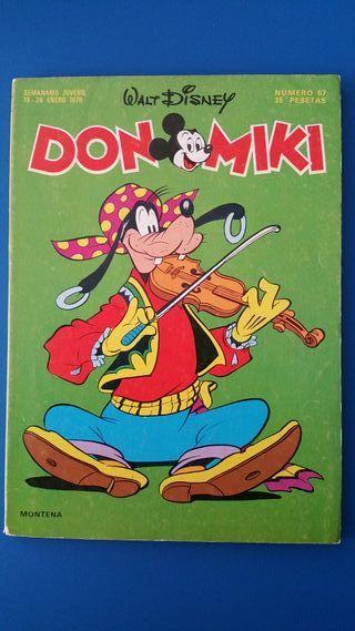 TEBEO DON MIKI Nº 67 WALT DISNEY MONTENA 1978