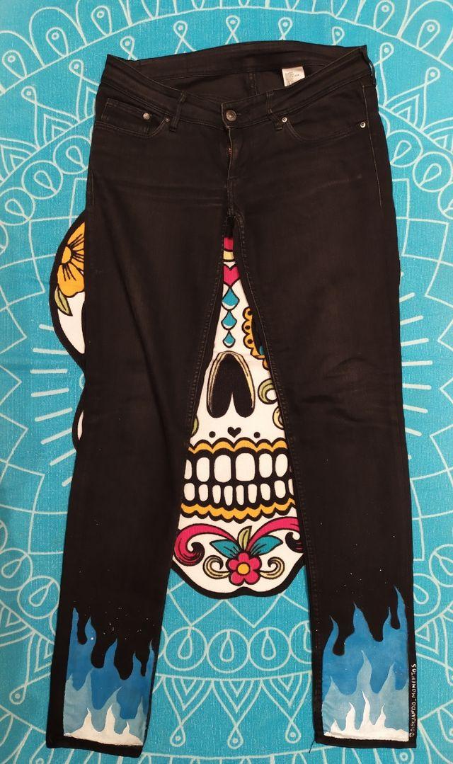 Pantalones Customizados Tumblr De Segunda Mano Por 10 En Villamediana De Iregua En Wallapop