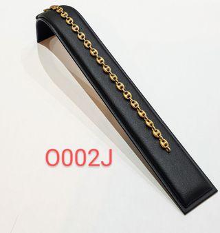 Pulsera de calabrote de oro de 18K