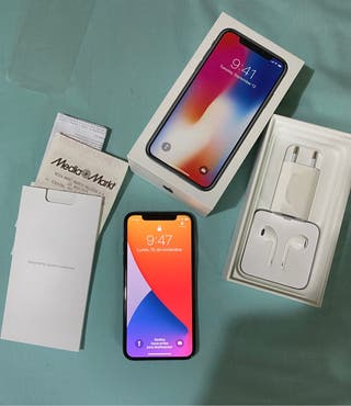 Iphone X 64gb completo + funda Spigen