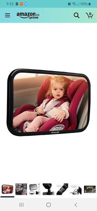 Espejo vigila-bebés auto