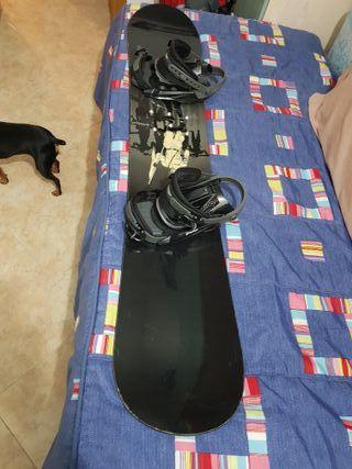 Tabla snowboard y fijaciones 155cm