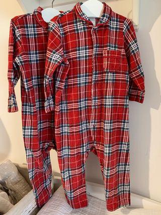 Pijamas invierno Navidad 9-12 meses 80 cm
