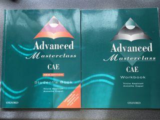 Libro inglés advanced masterclass CAE Oxford caset