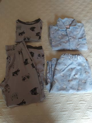 Lote pijamas niño 7-8 años