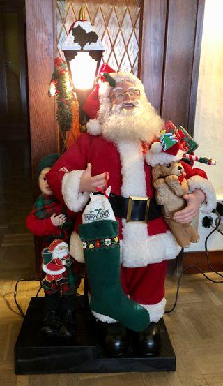 Papa Noel movil y con luz