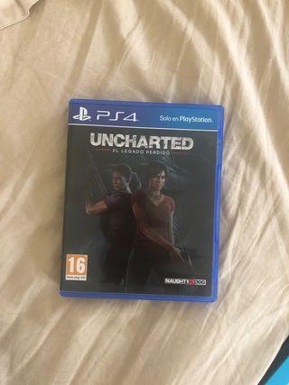 Vendo uncharted. El legado perdido (ps4)