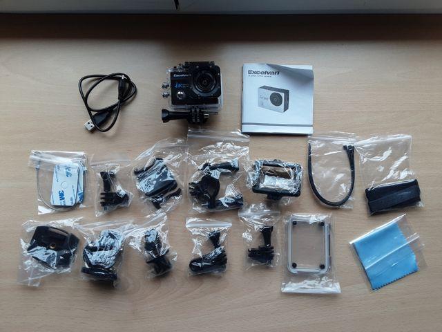 Cámara tipo GoPro + accesorios