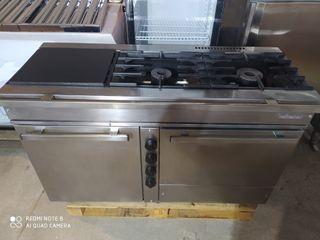 cocina de tres fuegos industrial