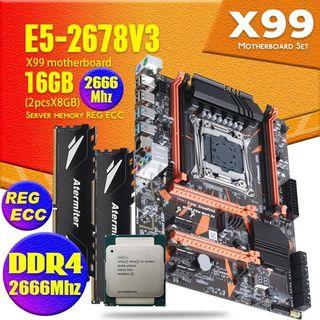 Placa Base x99 + Xeon E5 2678V3 + 16gb ram Atermit