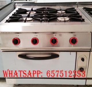 Cocina 4 fuegos mas horno industrial