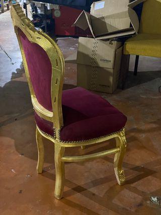 Silla modelo Luis XV