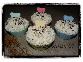 Cupcake realizado con Jabón